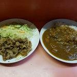 インドール - 豚のニンニク焼きとカレー