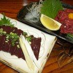 焼肉ハウス華 - 料理写真:レバ刺し!ユッケ!新鮮ですよ^^