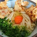 うつ輪 - 鶏天チーズ釜玉大盛♪