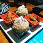 Jukuseinikubaruthimba - お肉ポテサラ&和牛スジのポルト酒煮込み