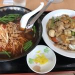 中華料理 福源  - 料理写真:ラーメンセット=780円 台湾ラーメン+中華飯