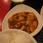 77989819 - ごはん、ミニ麻婆、ミニ杏仁豆腐