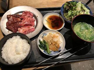 四五六 - 【2017.11.30】黒毛和牛焼肉定食¥1480