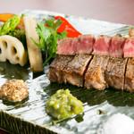 てっぱん山家 - 和牛ステーキ(焼き野菜付き)
