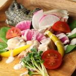 プラスアルファキッチン - このお肉はなんでしょう!?ヒントは写真奥。