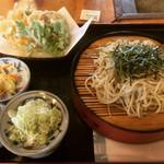 西金砂そばの郷 そば工房 - 天ざるそば(野菜天ぷら)  ¥1000-