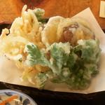 西金砂そばの郷 そば工房 - 野菜天ぷら