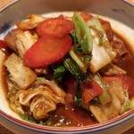 亀甲屋 - ブリ白菜金時人参の味噌炒め