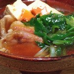 亀甲屋 - 合鴨豆腐九条葱の吉野煮