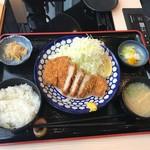 Ginzaougiya - ロースカツ定食(1500円)