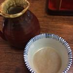 庵 - 蕎麦湯はドロっとして居ます。