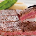 香月 - 料理写真:前沢小形牧場産黒毛和牛サーロインステーキ