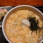78001055 - 玉子とじうどんと海老の押し寿司