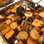 関東煮 権兵衛 - お燗はおでん鍋の中でやっちゃいますw