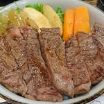 78006393 - 黒毛和牛のステーキ丼
