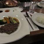 近江牛レストラン ティファニー - 近江牛ステーキランチ 4200円(税込4536円) (2017.11)