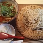 又達 - 坦々蕎麦(温つけ汁)1,200円