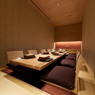 全席完全個室のおもてなし、四季折々の日本料理