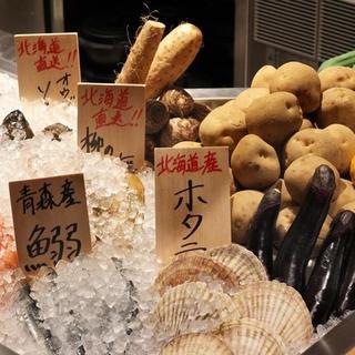 北海道直送!料理長こだわりの食材