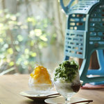 祇園NITI - 淡雪〜awayuki〜天然氷のかき氷 抹茶宇治金時&季節の果実