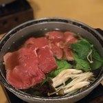 箱根小涌谷温泉 水の音 - 六、鍋物 すき焼き