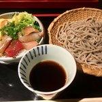 78017412 - 限定ランチ 海鮮漬丼とミニ蕎麦セット950円