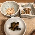 唐井筒 - 小鉢2種と香の物