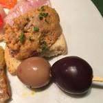 ワインレストラン ドミナス - まぐろのムースとワインうずら卵