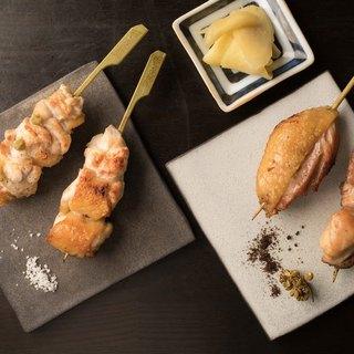 三重産の熊野地鶏×紀州備長炭×真珠塩=「オール三重の焼き鳥」