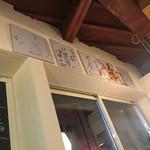 燻製×肉 イタリア酒場ORA - 話題の方のサイン色紙がありました。宮城野親方、何度か来たらしい
