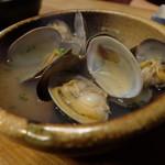 さいき - あさりの酒蒸し(800円)