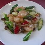 随息居 - エビと野菜の塩味炒め