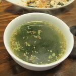 お好み焼 みっちゃん総本店 - スタミナわかめスープ