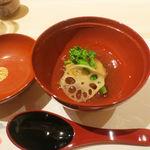 現代割烹Terra - 加賀れんこんの白子まんじゅう 生姜のあんかけ