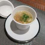 レンゲ - 29年12月 真鱈と里芋、金華ハムのコンソメのとろみスープ