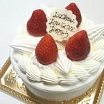 78033260 - 【2017.12】いちごデコレーション・5号(税込2,800円)