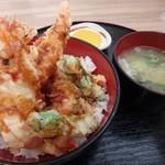 輪厚パーキングエリア(上り) - 甘い天丼