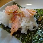 山屋 - 小さなご飯と海苔をサービスしてくれました。これは美味しい!