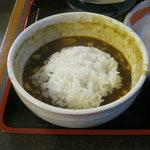 小平うどん - つけ汁に入れて雑炊風にできます。