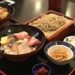78041457 - 海鮮丼とお蕎麦のセット 1500円