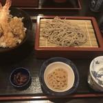 小田原 海の幸 山の恵 味乃魚隆 - 天丼とお蕎麦のセット 1500円