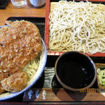 そば処 寿美吉 - 本日の土曜日限定ランチ(たれかつ丼,もりそば)