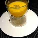 京都 鉄板焼 おはら - 南瓜のスープ
