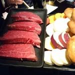 京都 鉄板焼 おはら - 今日のヒレ肉と京野菜