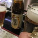 初音 - 相方零ICHI、小生生ビールで乾杯です。