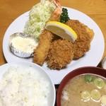 78046132 - 海老、帆立、ヒレかつ、蟹クリームコロッケ (1,850円)