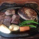 ステーキいづつや - サイコロステーキ&ハンバーグステーキ1780円