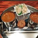 タージインドカレー - チキンカレー,野菜カレー