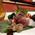 魚市 - お造り&生ビール
