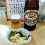 むらかみ食堂  - 料理写真:むらかみ食堂@釧路 キリンビールとお通し